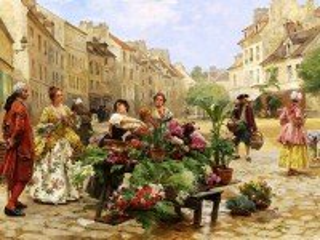 Собирать пазл Flower seller онлайн