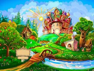Собирать пазл Far Far Away kingdom онлайн