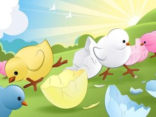 Собирать пазл Chicks hatched онлайн