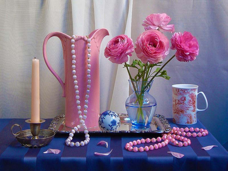 Jigsaw Puzzle Solve jigsaw puzzles online - Flowers with  bead