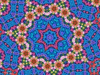 Собирать пазл Flowers in a kaleidoscope онлайн