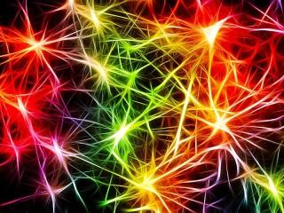 Собирать пазл Colored flash онлайн