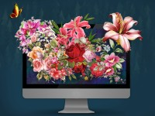 Собирать пазл Flowering monitor онлайн