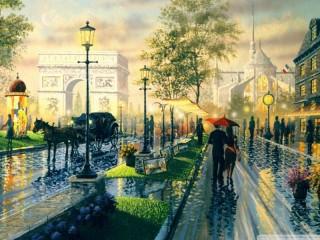 Собирать пазл Street of Paris онлайн