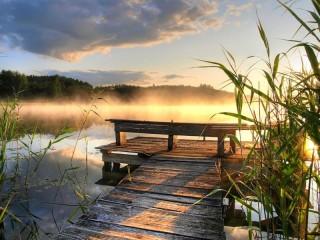 Собирать пазл Morning mist онлайн