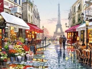 Собирать пазл In Paris онлайн
