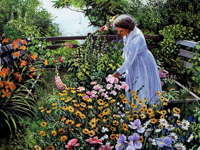 Jigsaw Puzzle Solve jigsaw puzzles online - In the own garden