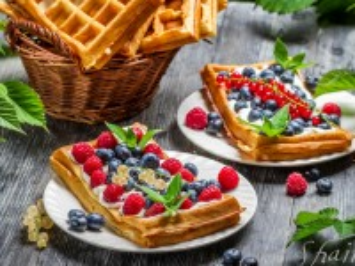 Собирать пазл Waffles in the basket онлайн