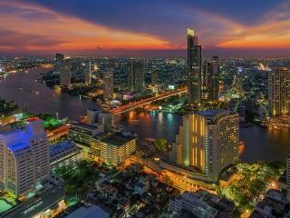 Собирать пазл Evening Bangkok онлайн