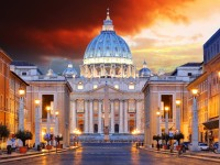 Собирать пазл Evening Vatican онлайн