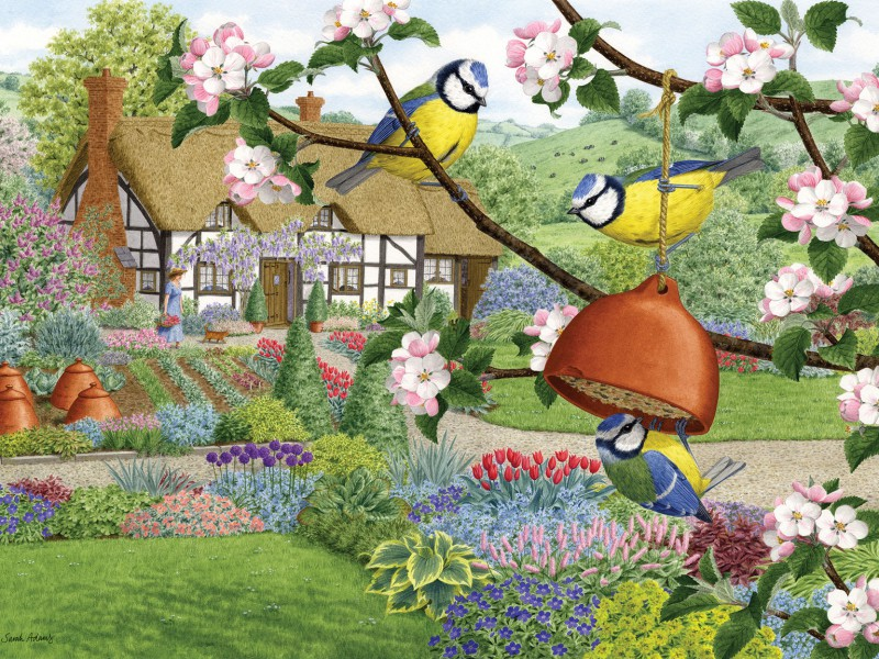 Jigsaw Puzzle Solve jigsaw puzzles online - In spring in garden