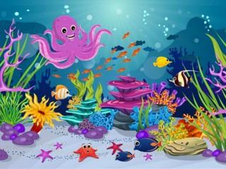 Собирать пазл Funny octopus онлайн