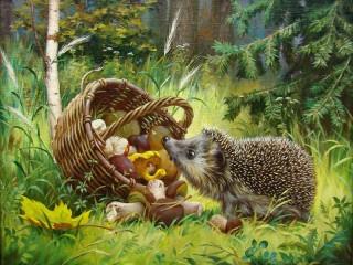 Собирать пазл Lucky hedgehog онлайн