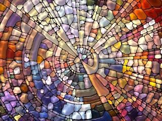 Собирать пазл Stained glass онлайн