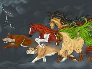 Собирать пазл Magical animals онлайн