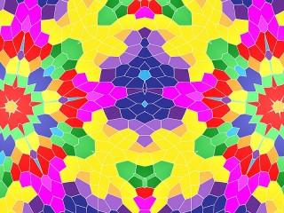 Собирать пазл Cellular kaleidoscope онлайн