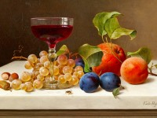 Собирать пазл The berries and wine онлайн