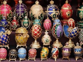 Собирать пазл Faberge Eggs онлайн