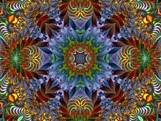 Собирать пазл Bright abstraction онлайн