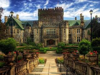Собирать пазл Castle Craigdarroch онлайн