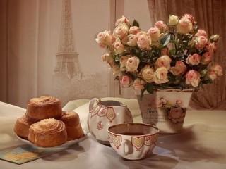 Собирать пазл Breakfast in Paris онлайн