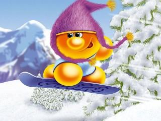 Собирать пазл Life of Gelini - snowboarding онлайн