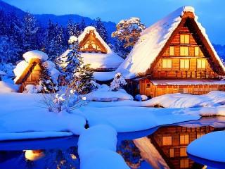Собирать пазл Winter village онлайн