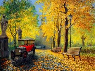 Собирать пазл Golden autumn онлайн