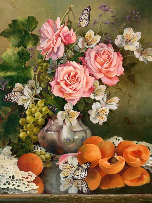 Jigsaw Puzzle Solve jigsaw puzzles online - Still life with apricots